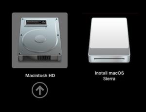 Выбор загрузочного диска mac